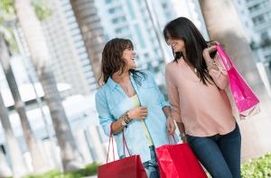 Two Women Retail Shopping